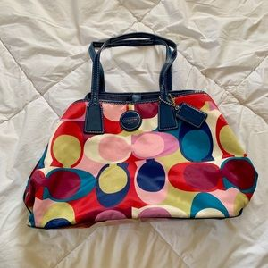 Multi colored Coach purse